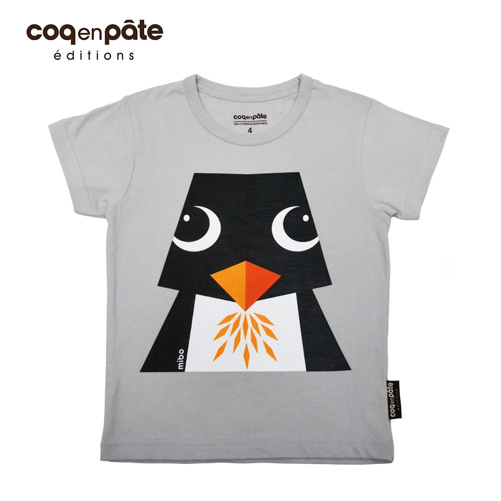 COQENPATE 法國有機棉童趣 短袖 T-SHIRT - 企鵝