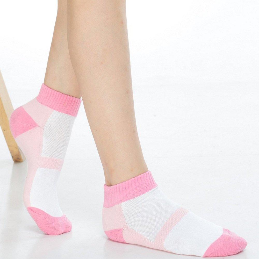 【KEROPPA】可諾帕細針毛巾底氣墊束底女短襪x4雙C91002 E粉紅配白