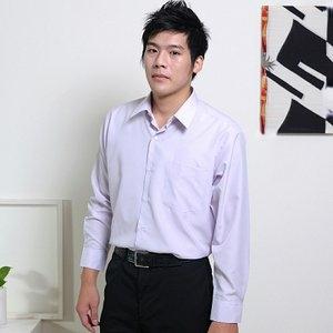 JIA HUEI 長袖男仕吸濕排汗防皺襯衫 3158條紋粉 [台灣製造]
