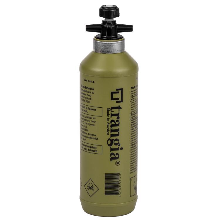 Trangia 耐溶塑膠油壺/燃料瓶 0.5L 安全閥 Fuel bottle 506105 橄欖綠