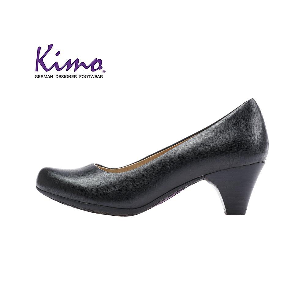 【Kimo 德國品牌健康鞋】簡約優雅上班族時尚素色高跟鞋(都市黑KAIWF032513)