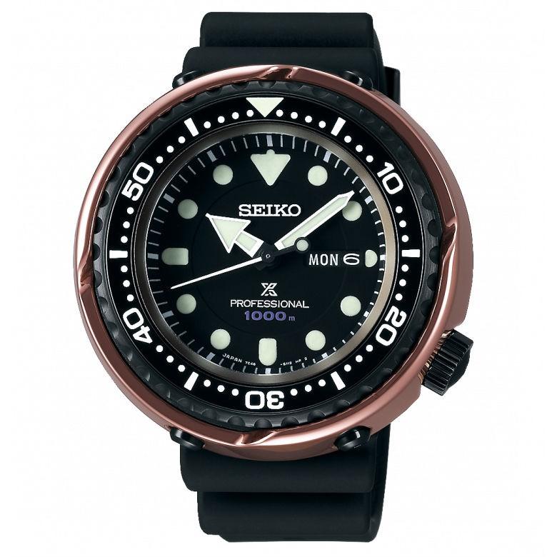 Seiko 精工錶 Prospex 7C46-0AM0X(S23627J1)限量深海鮪魚王潛水金屬陶瓷腕錶/49.4mm