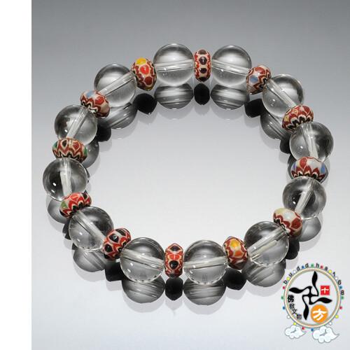 雪芙蘭琉璃&水晶手珠12mm十方佛教文物