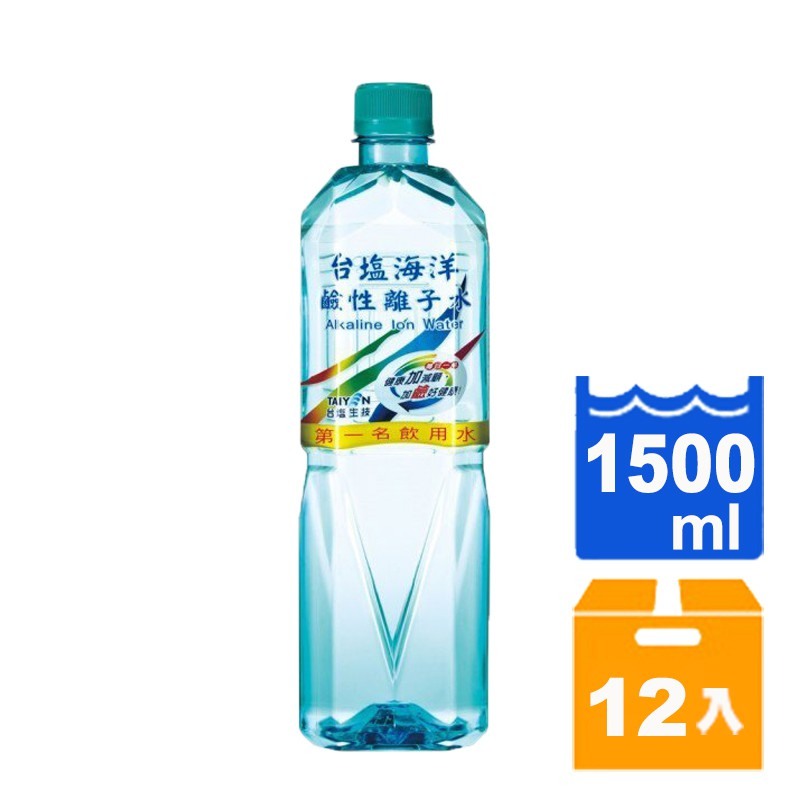 台鹽 海洋鹼性離子水 1500ml (12入)/箱【康鄰超市】