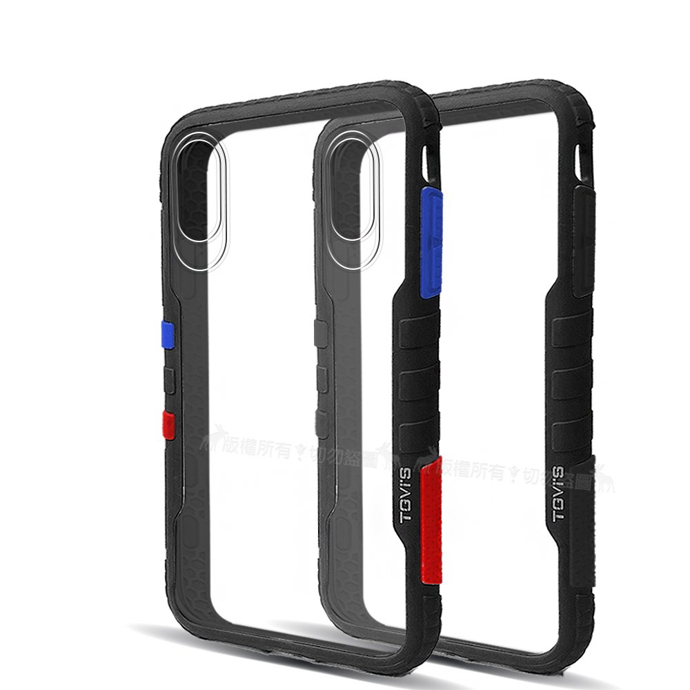 TGVi'S 極勁2代 iPhone Xs Max 6.5吋 個性撞色防摔手機殼 保護殼 (旋風黑)