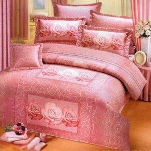 [玟瑰物語]台灣製造(3.5呎x6.2呎)五件式單人(純棉)鋪棉床罩組-粉紅色[台灣製造]