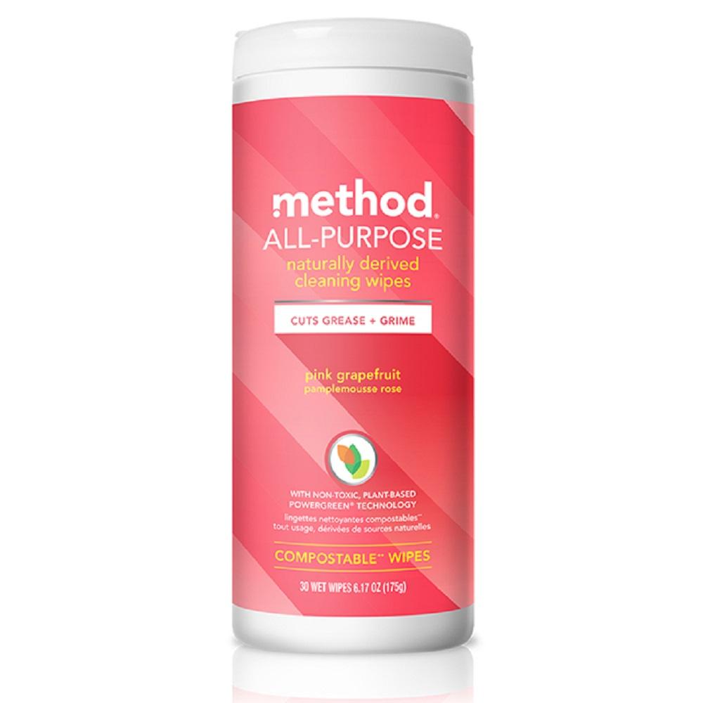 method美則全效居家清潔濕紙巾-粉紅葡萄柚 30入
