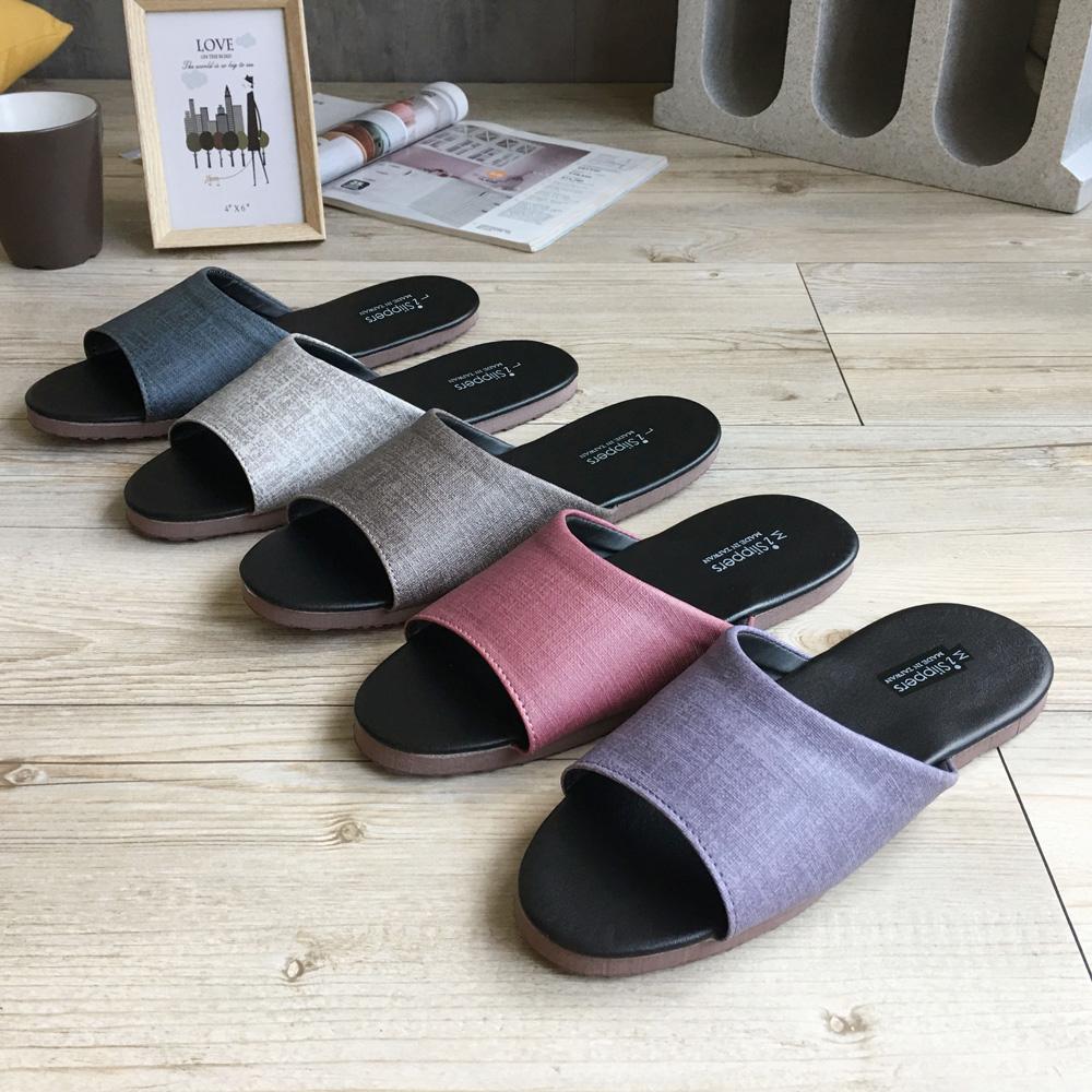 【iSlippers】簡約系列-純色皮質室內拖鞋-爵士款-5雙組