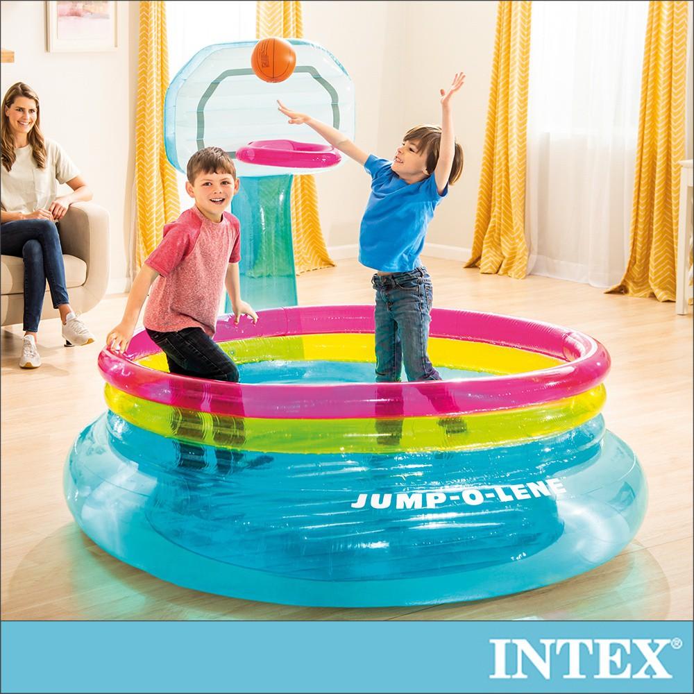 【INTEX】籃球框跳跳床 適用3-6歲(48265)