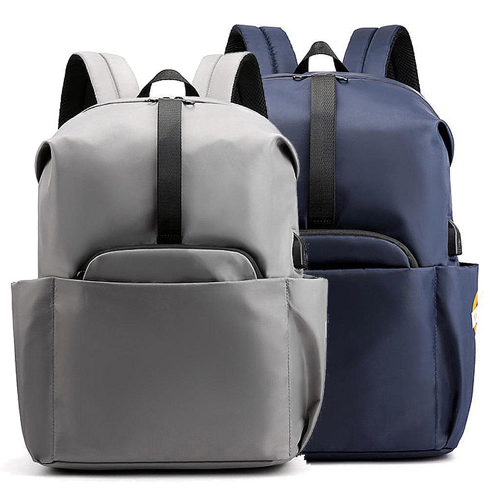 【iSPurple】都會尼龍*充電附線中性防水後背包/2色可選