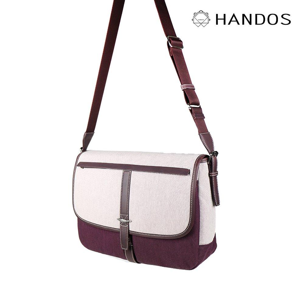 HANDOS|Jo March 雙色織線帆布書包 - 楓葉紅