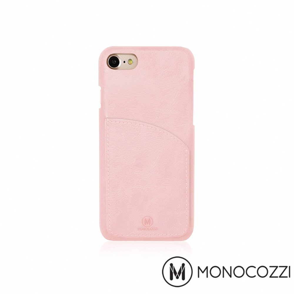 MONOCOZZI EXQUISITE iPhone 7 口袋皮套 - 嫩粉紅