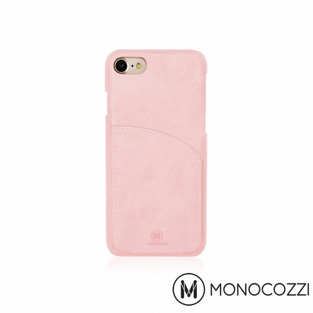 MONOCOZZI EXQUISITE iPhone 7 口袋皮套 - 嫩粉紅