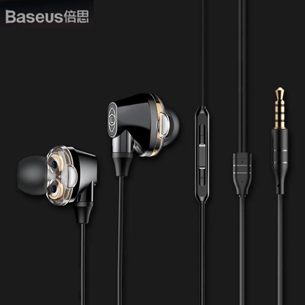 Baseus倍思 Enock S10 雙動圈藍牙耳機(黑)