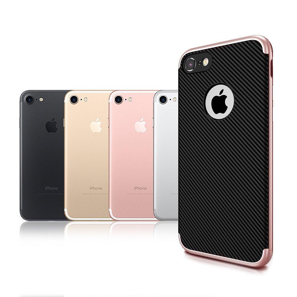 VXTRA iPhone 8 /iPhone 7 防震電鍍雙料軟性手機殼 玫瑰金