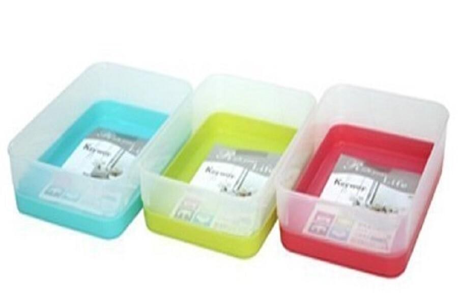 台灣製造 小彩玉雙色收納盒