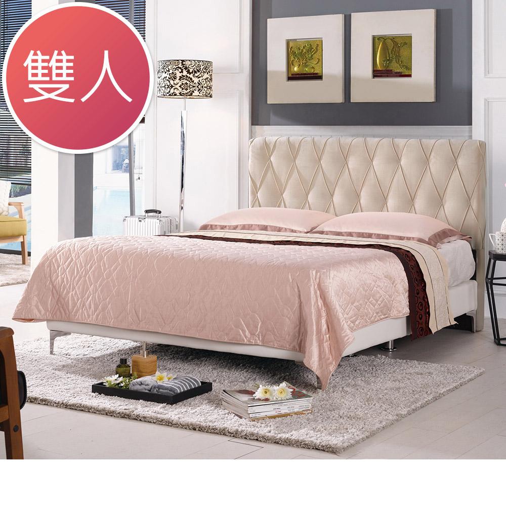 Boden-斯洛5尺米黃色雙人床組(不含床墊)