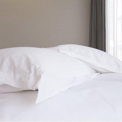 【法式寢飾花季】純品良織-五星級飯店御用開口式平紋枕套*4件組
