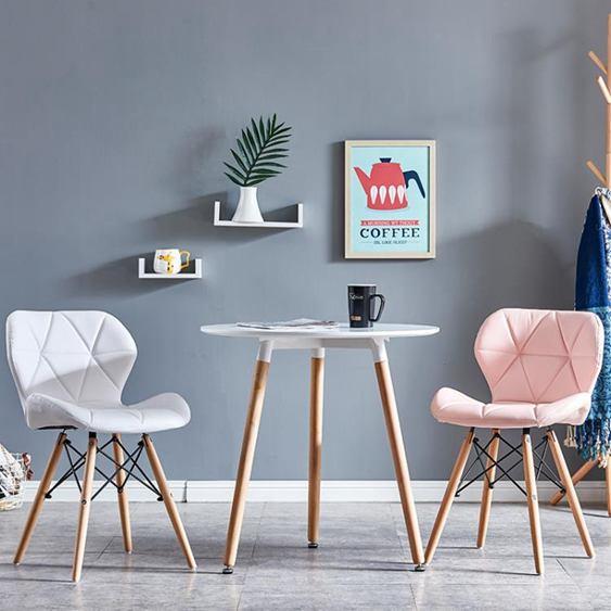 書桌椅子女生可愛臥室家用休閒簡約凳子靠背化妝美甲網紅ins懶人全館促銷限時折扣