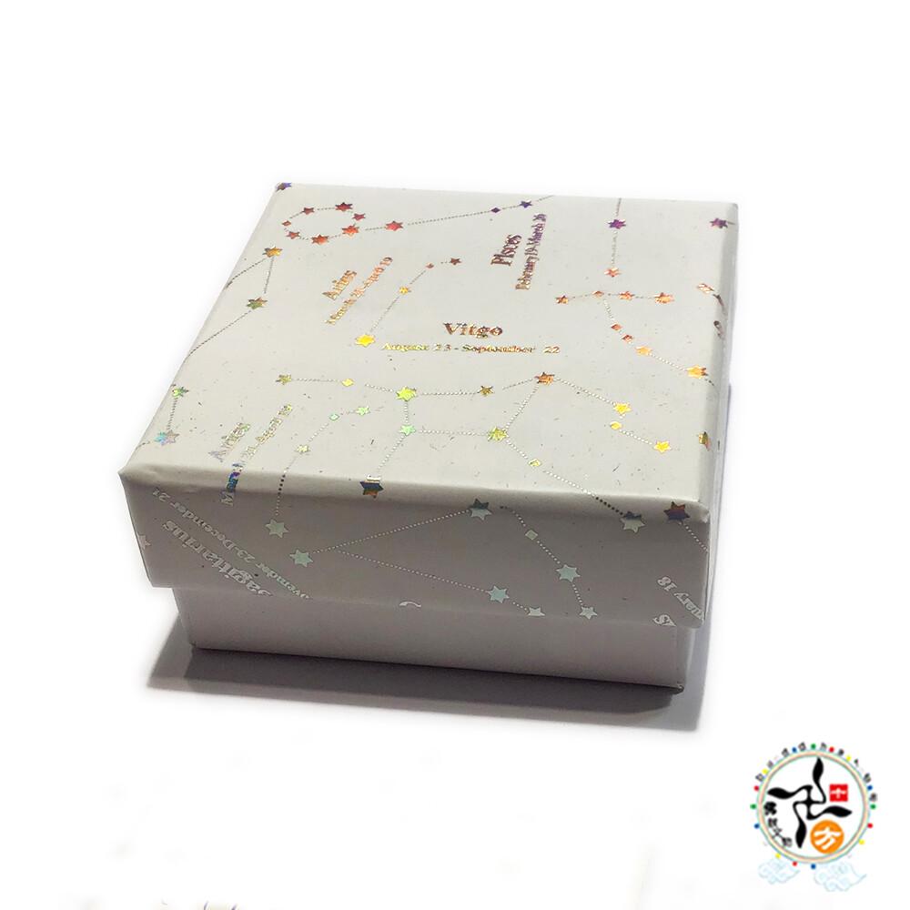 高級飾品盒7*7*3.2公分白色十方