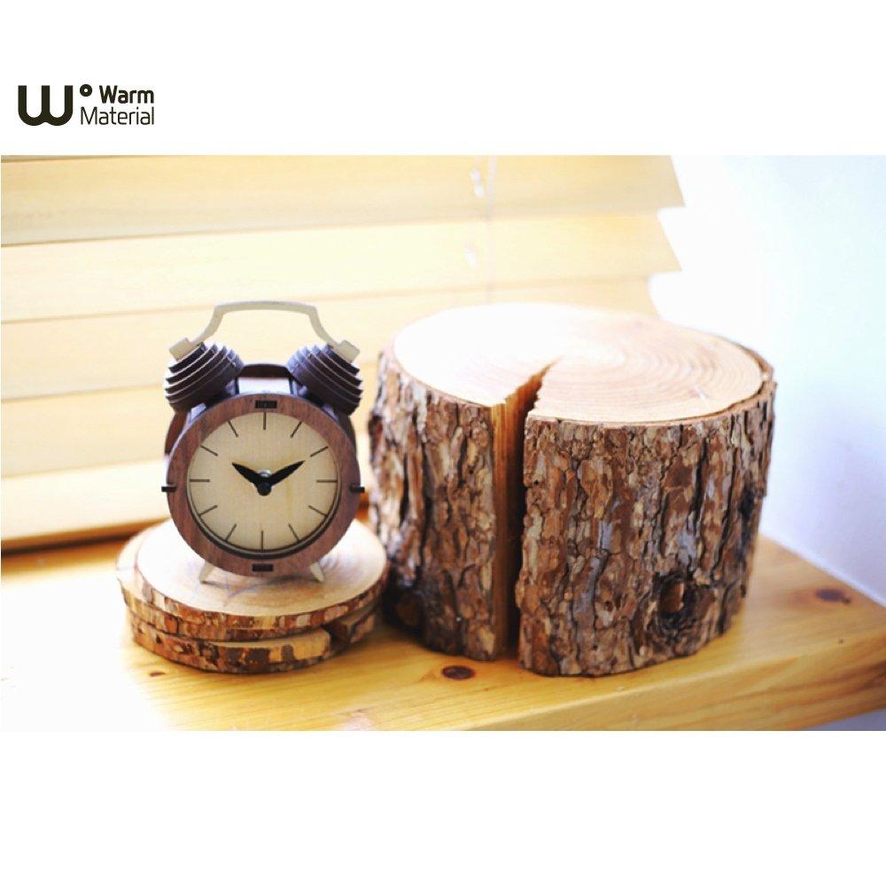 WOOD SUM 自組木作小物 雙耳小鬧鐘 造型時鐘