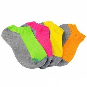 源之氣 竹炭鮮彩船型襪 男女適穿 (12雙 組)四色混搭 RM-30008