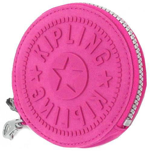 Kipling 圓形防水零錢包-桃紅