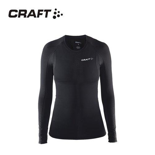 CRAFT DELTA女款運動壓縮長袖上衣 黑色