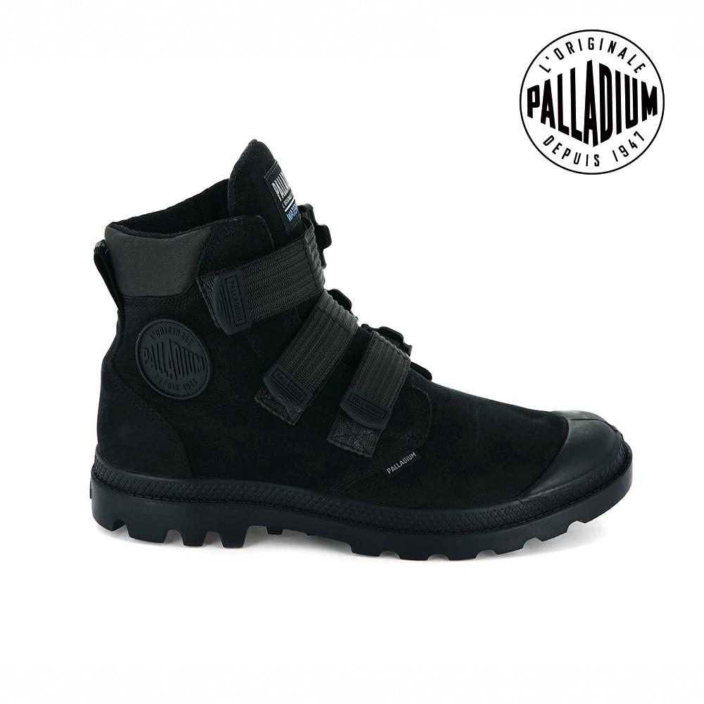 PALLADIUM PAMPA CUFF WP LUX ST黏扣皮革防水靴-男-黑