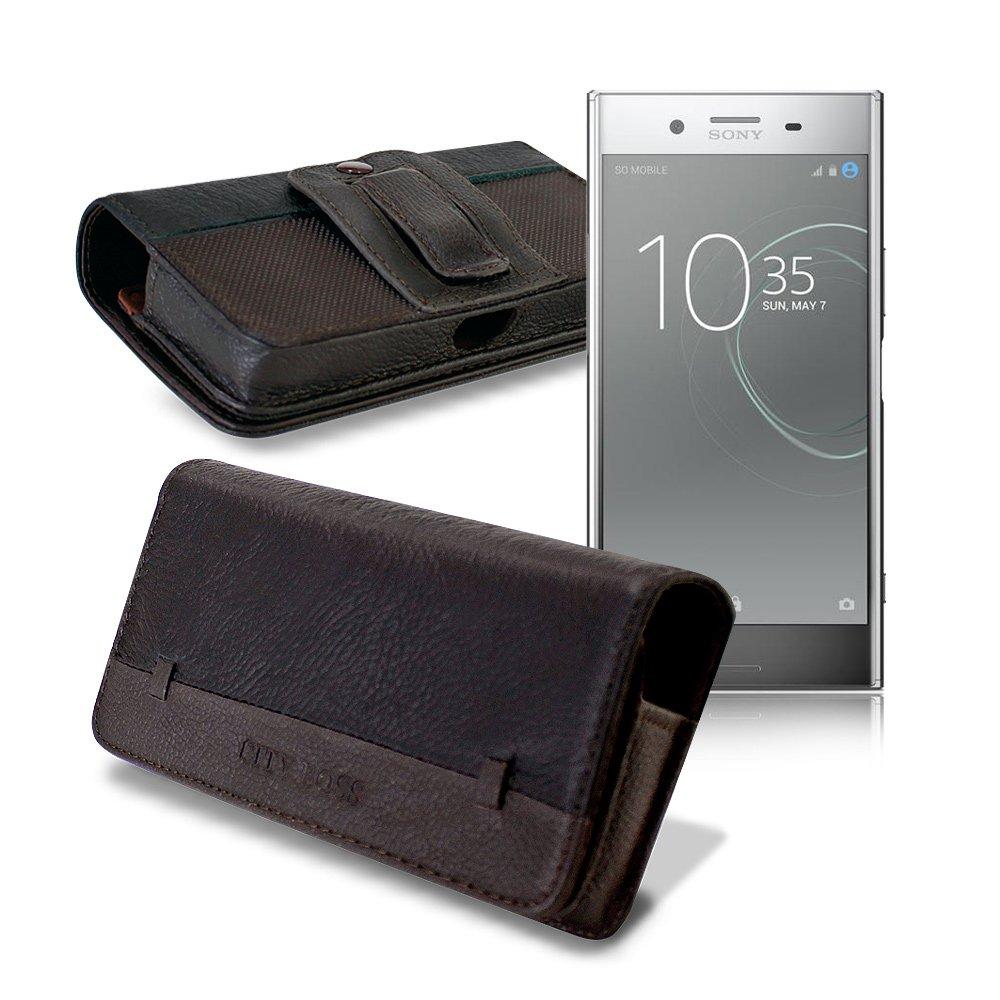 CB SONY XZ Premium / HTC U11 5.5吋 品味柔紋橫式腰掛皮套
