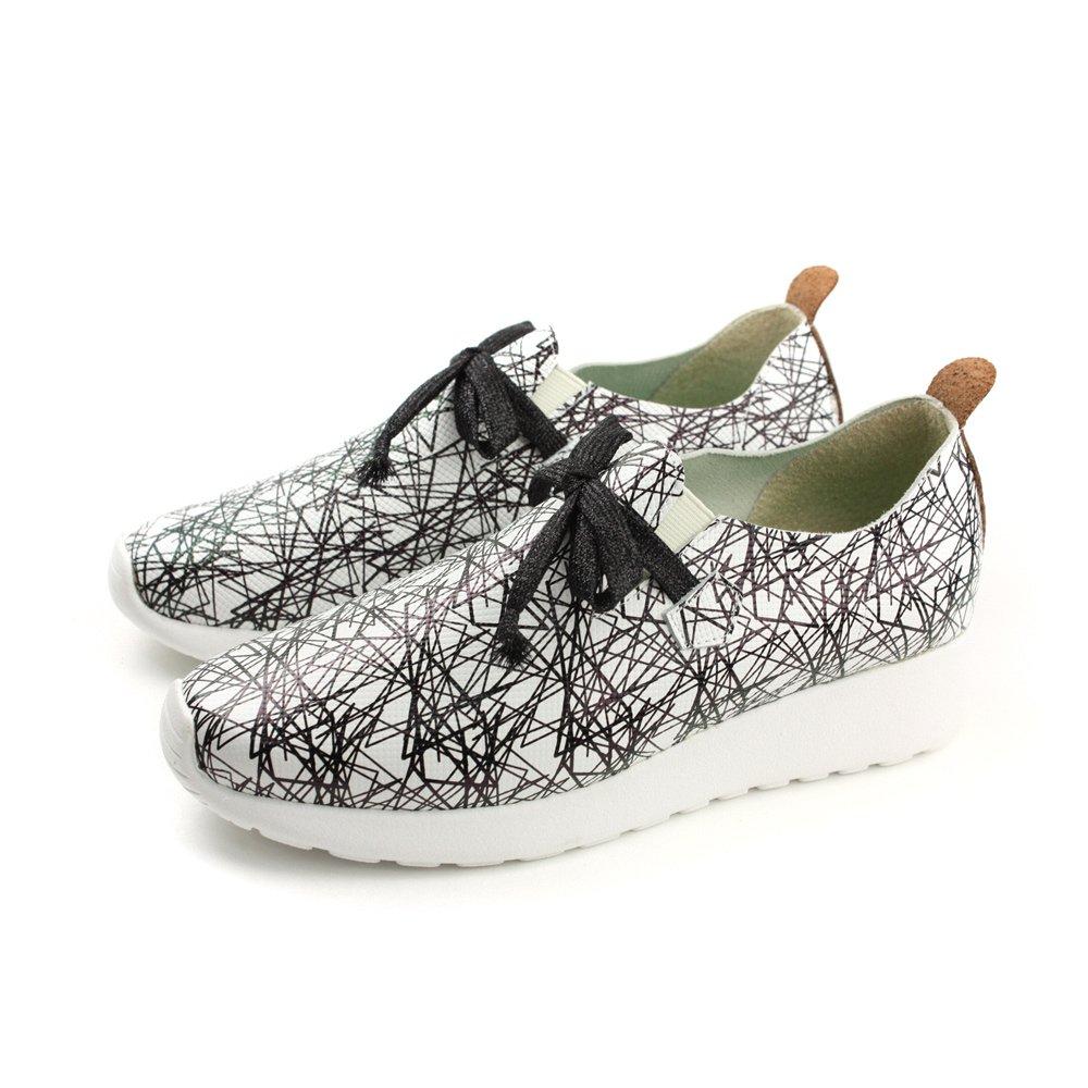 HUMAN PEACE 懶人鞋 休閒鞋 厚底 增高 不規則 白色 女鞋 1709-01 no406