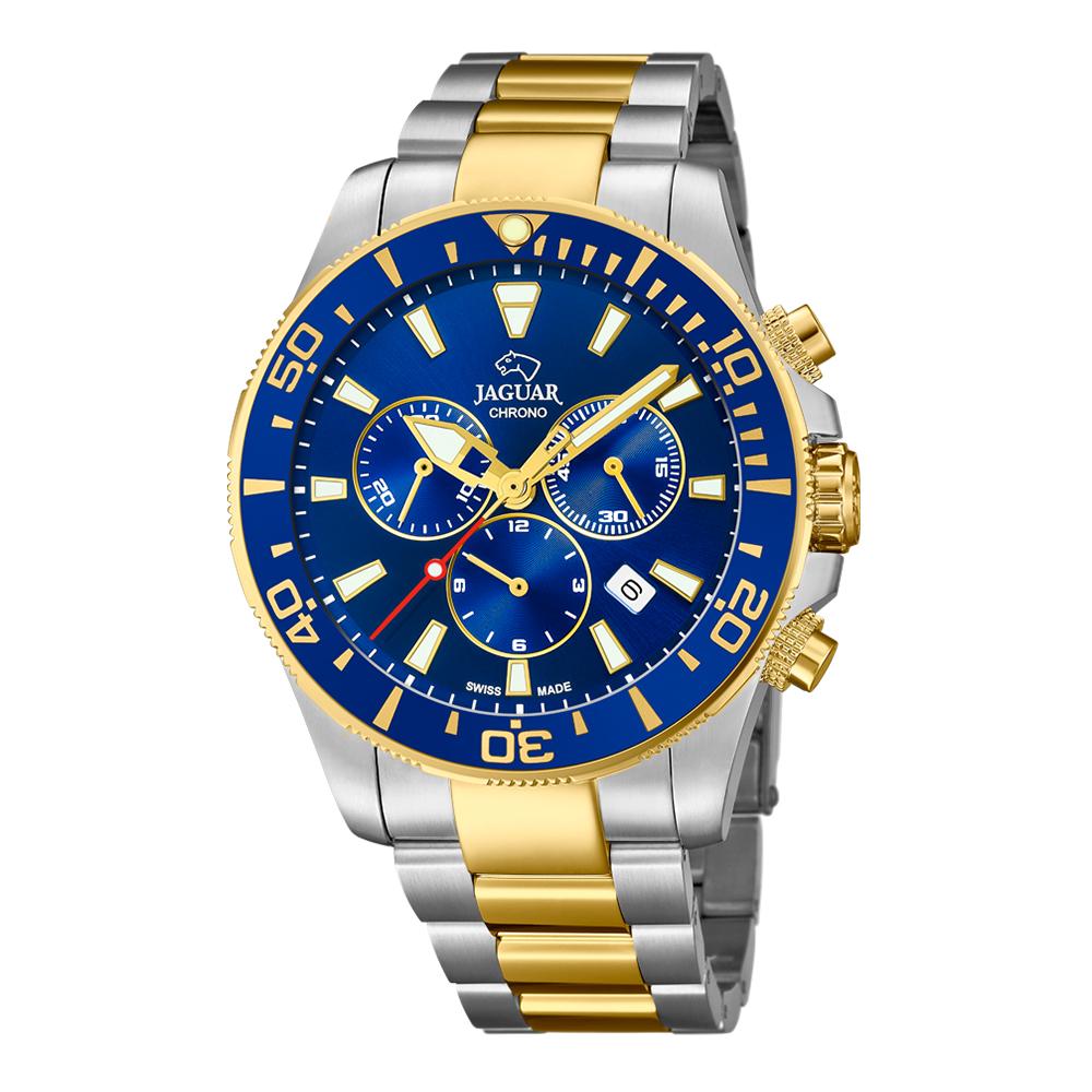瑞士JAGUAR | 經典雙色款計時錶Executive (藍面) - J862/1