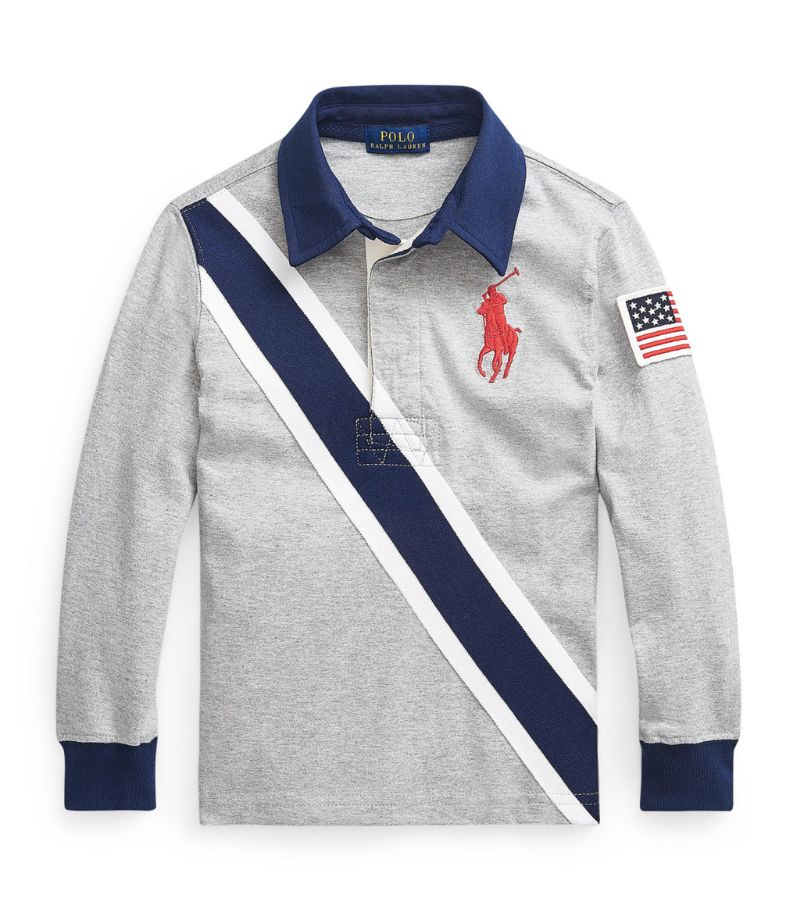 Ralph Lauren Kids Diagonal-Stripe Rugby Shirt (5-7 Years)