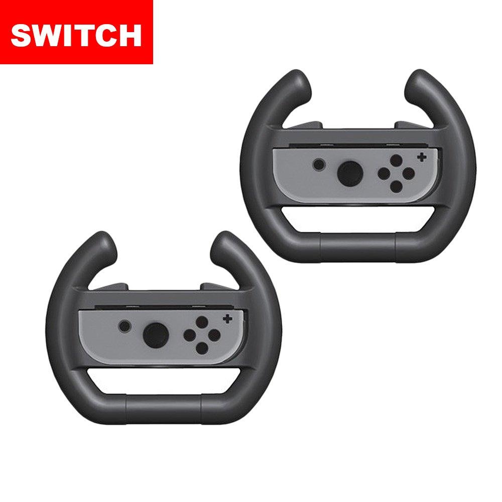【Switch】Switch Joy-Con專用 方向盤造型握把架二入組(副廠)