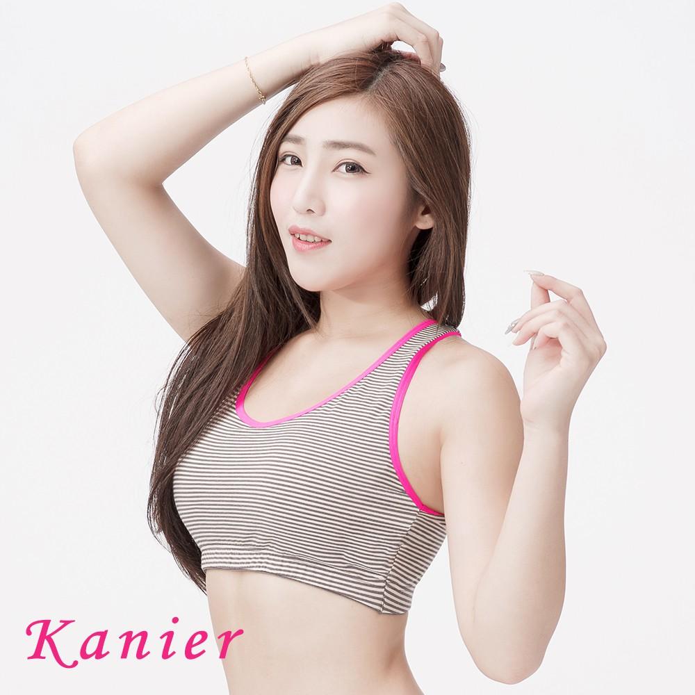 【Kanier卡妮兒】元氣女孩有機棉.運動內衣(黑桃)(M-Q)