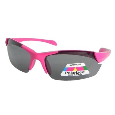 【Docomo戶外兒童運動太陽眼鏡】頂級偏光運動鏡片 時尚潮流新設計 可愛粉色鏡框 抗UV400