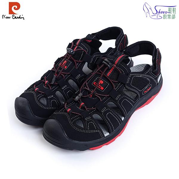 涼鞋.皮爾卡登Pierre Cardin兩用彈力運動兩用涼拖鞋.黑紅【鞋鞋俱樂部】【167-PAL5590】
