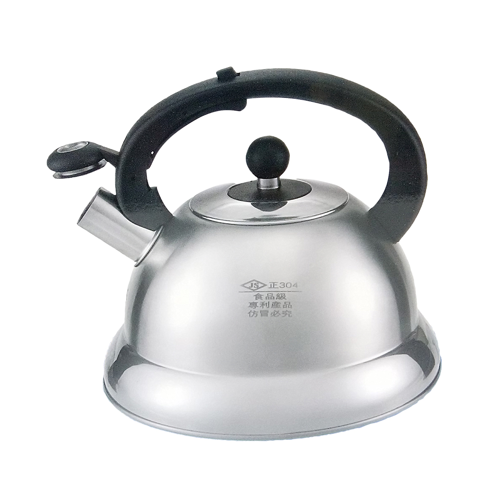 金德恩 翅片節能304不銹鋼笛音壺4L / 茶壺 / 熱水壺 / 超節能