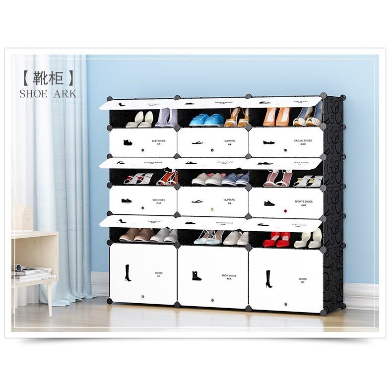 簡易鞋櫃經濟型組裝宿舍防塵收納小鞋架子多層家用門口窄櫃省空間