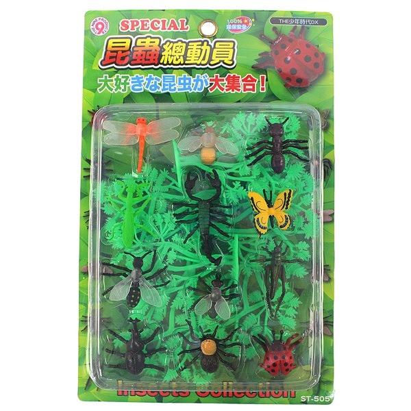 日系 仿真野生昆蟲模型 12款入/一卡入(促150) ST-505 昆蟲公仔 仿真昆蟲 ST安全玩具-生