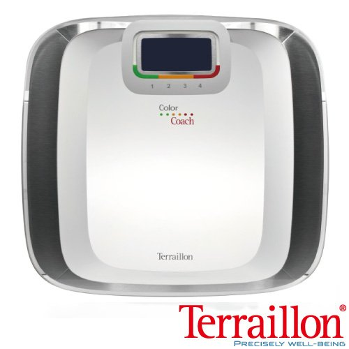 【Terraillon】彩繽紛大鏡面鋼化玻璃體重計