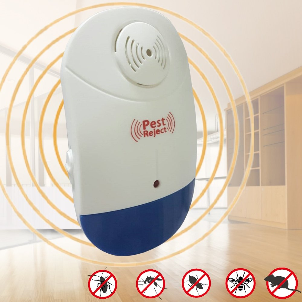 【Bunny】新智能全方位LED超音波驅蚊蟲器驅鼠器(二入)