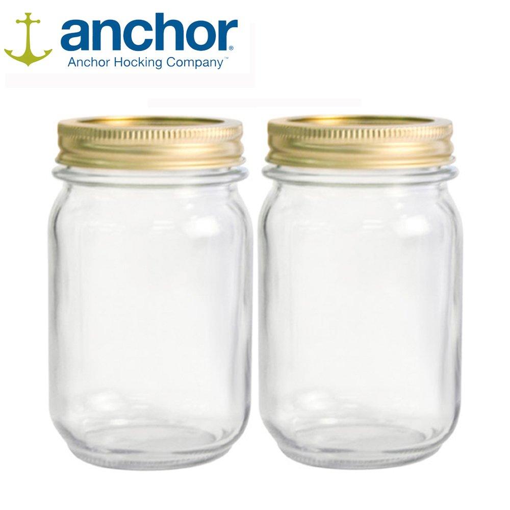 美國Anchor MASON Jar梅森玻璃罐475ml-二入組