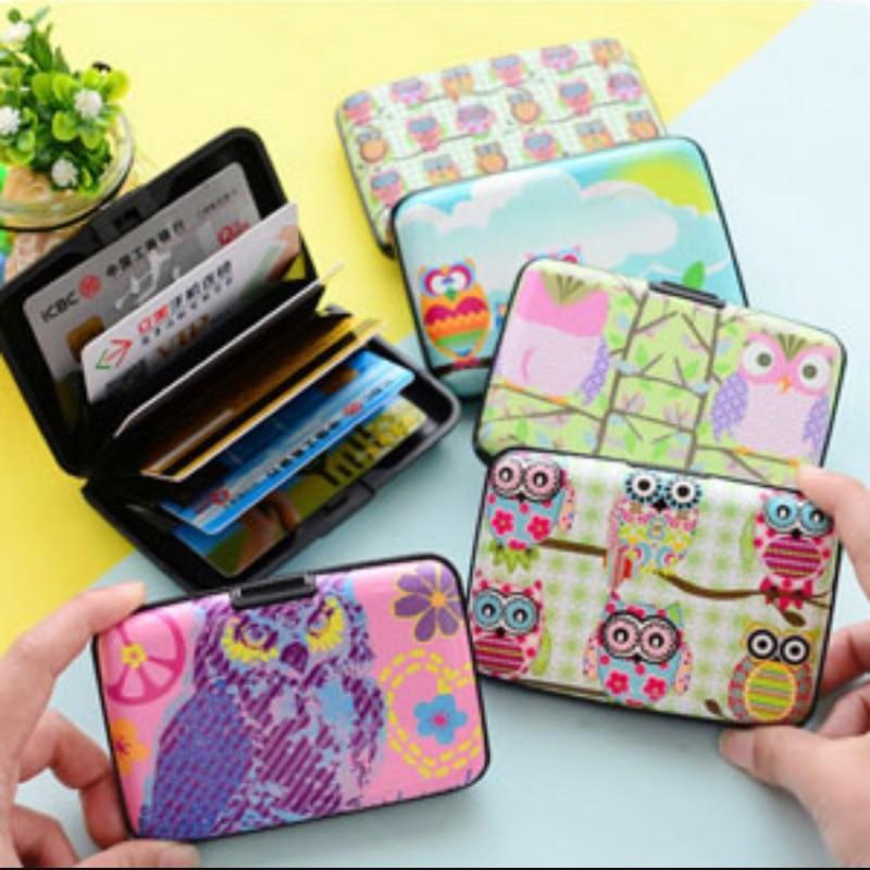 彩繪貓頭鷹硬殼防消磁風琴卡包套/卡片名片夾(不挑款
