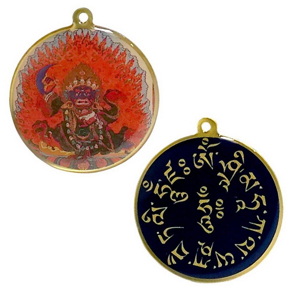 二臂瑪哈嘎拉 正反雙面佛牌吊飾