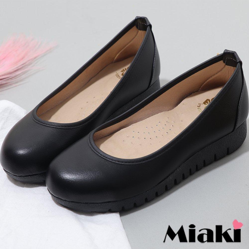 【Miaki】通勤鞋.舒適鞋墊加厚底包鞋【 (現貨+預購)