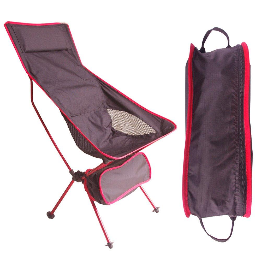 超輕量頂級手提式航太鋁合金休閒椅/折疊椅(舒適高背款)