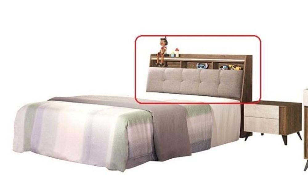 新精品ef-95-1 緹諾5尺床頭箱 可打開置物 (不含其它商品) 台北至高雄滿三千搭車趟免運