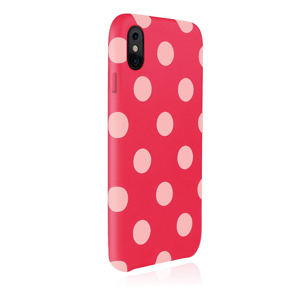 JTLEGEND iPhone Xs / X 5.8 Polka 設計師款合成皮革背蓋