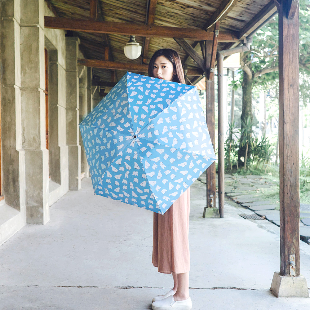 Carry Umbrella|Moose超輕碳纖三折傘 - 白熊日常